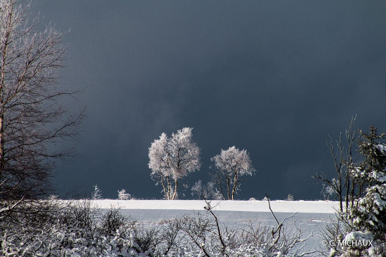 Ciel tombant paysage de neige
